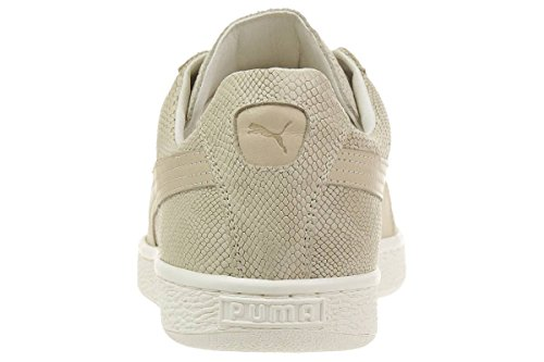Puma Herren Sneaker States MII Lthr Leder 359009 02 Made in Italy Natural-Whisper White