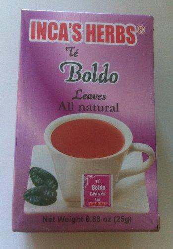 Inca's Herbs Boldo (Leaves Tea) Single Box 0.88oz - Product of (Boldo Leaves)