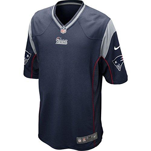NIKE Tom Brady New England Patriots Navy Blue Game Jersey - Men's Small