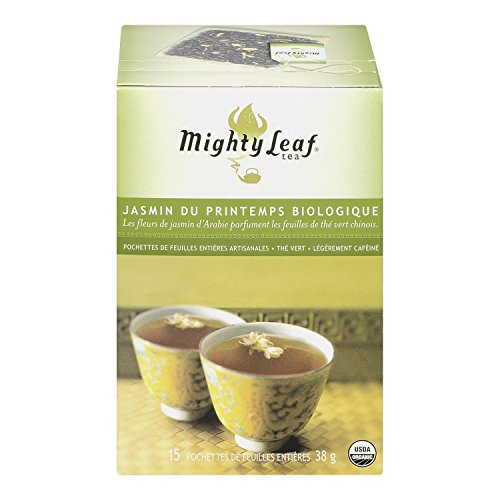 Mighty Leaf Tea, Organic Spring Jasmine, 15-Count Whole Leaf Pouches