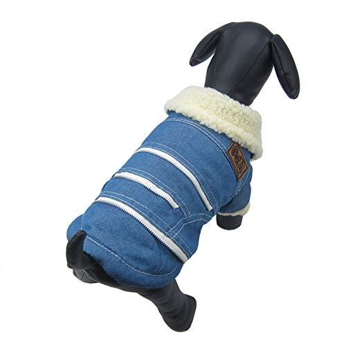 Alfie Pet by Petoga Couture - Lincoln Fleece-Lined Winter Coat - Color: Light Blue, Size: -