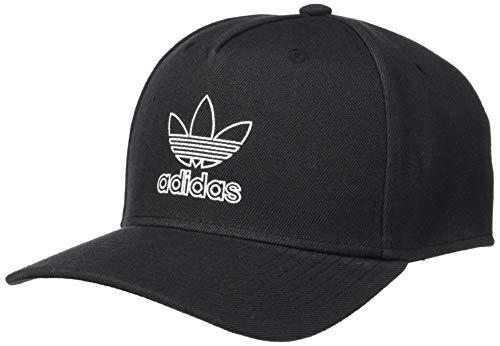 adidas Men's Originals Dart Precurve Snapback Cap, Black/White, One Size ()