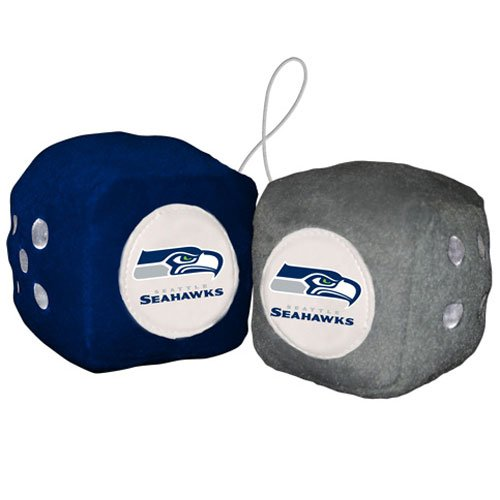 NFL Seattle Seahawks Fuzzy Dice,one blue, one grey w/ - Mall Seattle Outlet