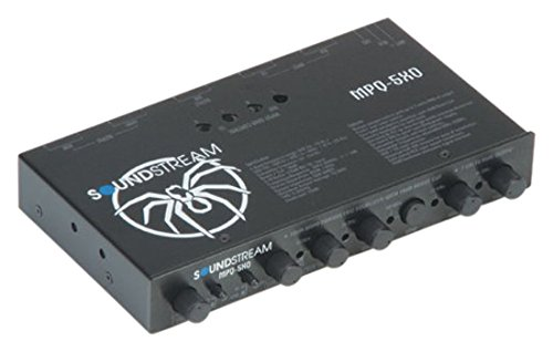 Soundstream MPQ-5XO Parametric EQ with Crossover and Sub Volume .5 Din - Eq Crossover