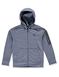 Reebok Boys Sporty Double Knit Zip-up Hooded Jacket
