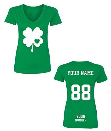 Custom Jerseys St Patrick's Day V Neck T Shirts - Saint Pattys Irish Outfits