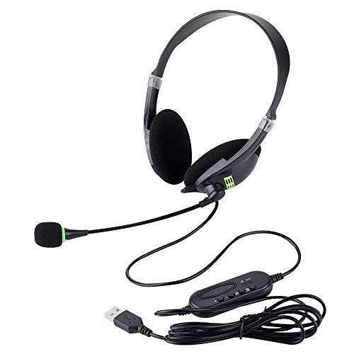 🥇 Auriculares USB con micrófono y controles en línea