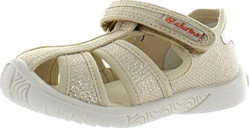 Canvas Fisherman Sandals - Naturino Girls 7785 Canvas Fisherman Sandals,Bermuda Gold,27