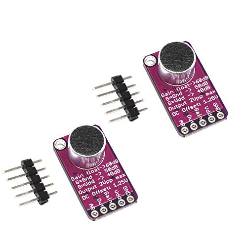 Onyehn MAX9814 Electret Microphone Amplifier with Auto Gain Control for Arduino(Pack of ()