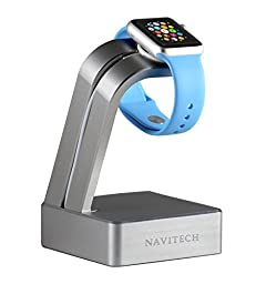 Navitech Apple Watch Gun Metal Grey Aluminium Charging Dock / Station / Platform