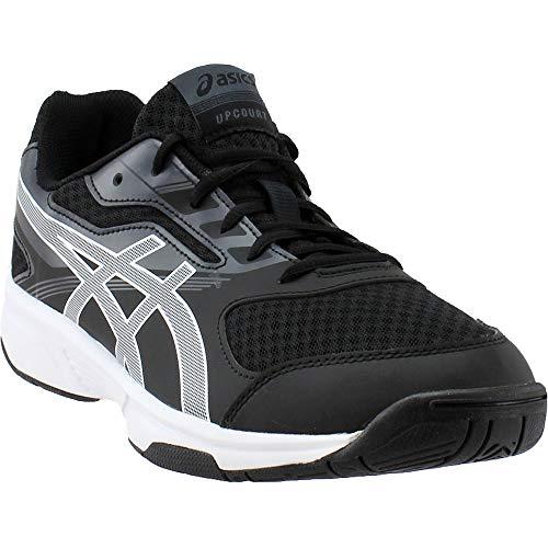 ASICS Mens Upcourt 2 Volleyball Shoe, Black/White/Phantom, 12 Medium US