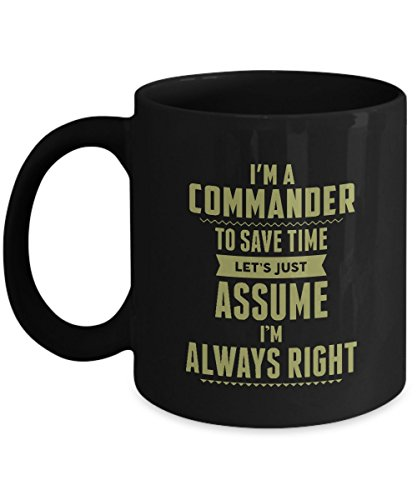COMMANDER Coffee Mug - COMMANDER Always Right - Gag gifts idea for COMMANDER Women, Men, Adult, on Christmas, Thanksgiving 11Oz Ceramic Tea Cup, Back Funny Mug