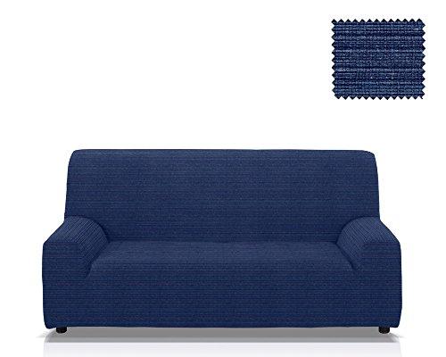 Elastische Sofa-Husse Moraig Größe 3 Sitzer (Von 170 bis 210 cm), Farbe Blau (Mehrere Farben verfügba.)