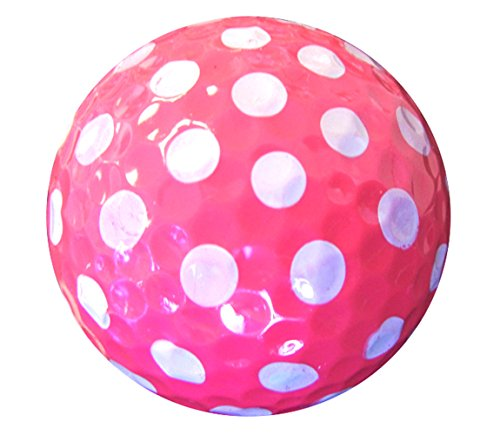 Golf Balls Purple AND Pink Polka Dot (Sleeve of 3)- 2 PACK by Navika (Image #4)