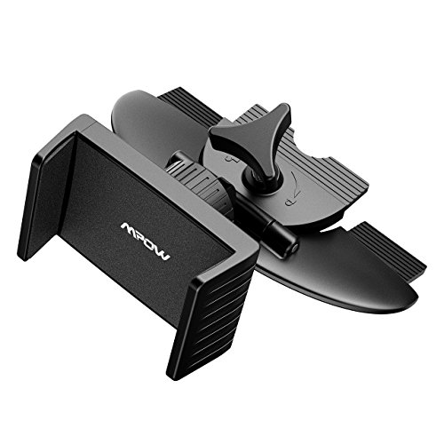 Mpow Car Phone Holder,CD Slot Universal Car Phone Mount, One-touch Cradle Stand for iPhone X/8/8 plus/7/7 plus/6s/6/6s plus/6 plus, Samsung S8/S7/S6/edge, LG G5, Nexus 5X/6/6P and More by Mpow