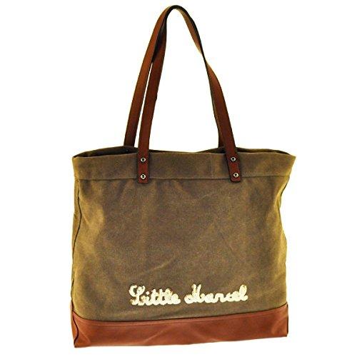 Little marcel - Sac coton A4 marron
