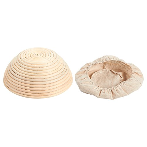 Juvale Banneton Proofing Basket Set - 11-Piece Brotform Bread Dough Rising Baking Kit, Includes Round Rattan Basket, Cotton Liner Cloth, Dough Scraper, and 8 Different Xmas Themed Stencils by Juvale (Image #1)'