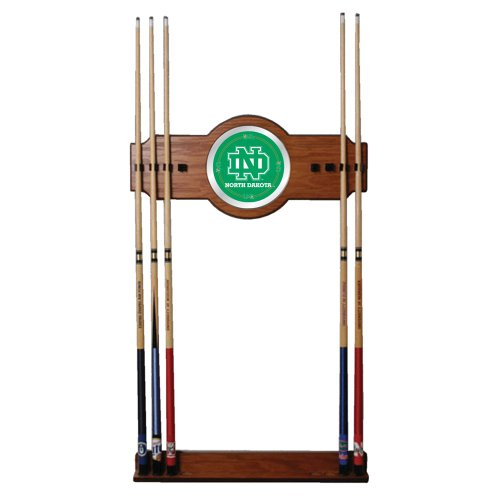 NCAA University of North Dakota Billiard Cue Rack with Mirror by Trademark Gameroom