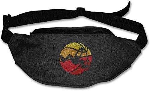 バスケットボールダンクユニセックスアウトドアファニーパックバッグベルトバッグスポーツウエストパック