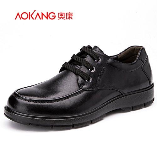Aemember nella caduta di uomini indossare una scarpa Low-Cut scarpe per il tempo libero a testa tonda scarpe cinturino ,41, nero