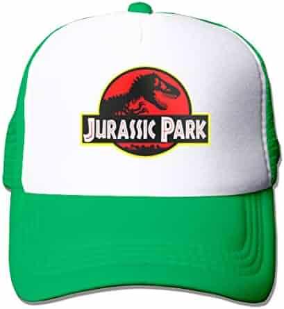 a6d5c3a8770a4 Luxendary Unisex Jurassic Park Men s Momens Classic Hip-Hop Mesh Caps Adjustable  Snapback