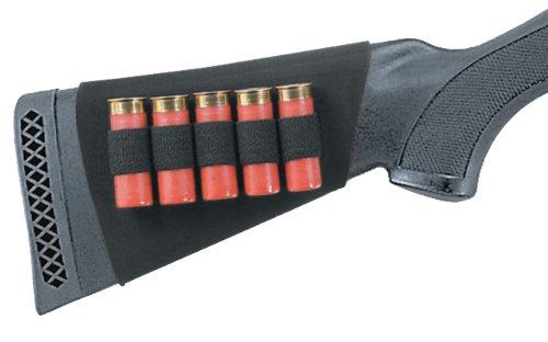 Uncle Mike's Neoprene Buttstock Shotgun Shell Holder (Black, 5 Loops)