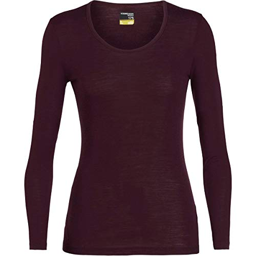 - Icebreaker Merino Women's 175 Everyday Long Sleeve Scoop Base Layer Tops, Medium, Velvet