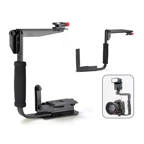 Multi Camera Bracket (CowboyStudio Multi-Angle Quick Flip Off Camera Flash Bracket for Canon, Nikon, Olympus, Samsung, Sony and Fuji (LH01 bracket))
