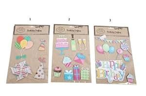 Un paquete de adhesivo para manualidades adornos–Número 1–fabricación de tarjetas, decorativo