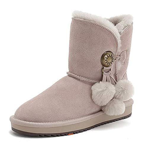Deporte Zapatos Para Botas Nieve Calientes Calzado Pelo Casuales Y Zapatillas Mujer Con Caminar Cortas Pelotas Cálidas Terciopelo Pink Botines De twvrt
