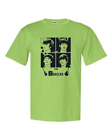The Beatles Unisex T-Shirt (Child Medium, Lime) (Beatles Gifts For Kids)