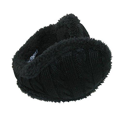- 180s Women's Cable Knit Ear Warmers, Black