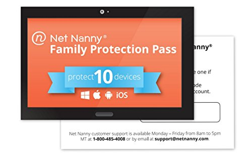 Net Nanny 10-Device Family Protection Pass - Parental Control Software and Internet Filter for Mobile and Social Media