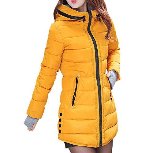 Uirend Coton Hiver Doudounes Packable Gants Vêtements Manteau Et Jaune Zip Femmes Chauds Parka Vestes Long Ultralight Hood Manteaux wUwHRB