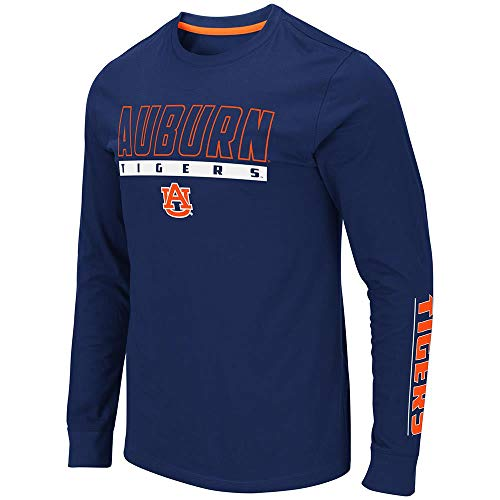 Colosseum Mens Auburn Tigers Guam Long Sleeve Tee Shirt - L