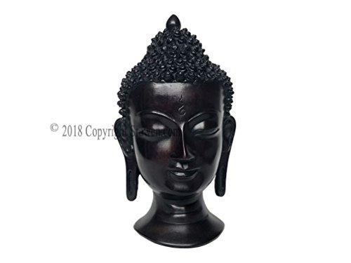 Tibetan Small Buddha Head Wall Art Sculpture - Shakyamuni Medicine Buddah Tara BubbleHead Statue Decor Hanging Mask,Antique -