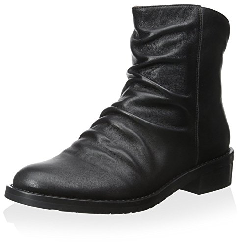 Black Bootie Leather Chocolat Women's Blu qwxPOZ