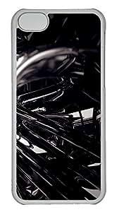 iPhone 5C Case 3D Black 3 PC iPhone 5C Case Cover Transparent