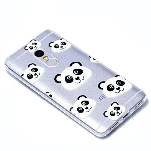 Xiaomi Redmi Note 5AFunda, Ecoway TPU Ultra Delgado Carcasa Antideslizante Suave Parachoques Resistente a los arañazos Contraportada Funda de silicona pintado Parachoques Carcasa Funda Bumper - Campan Panda