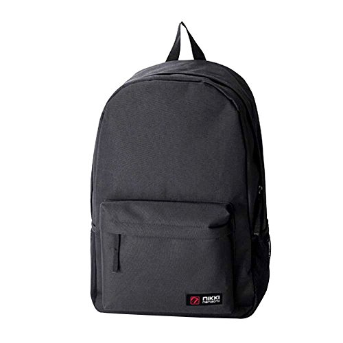 - Goddessvan Vintage Canvas Backpack School Laptop Bag Rucksack Casual Travel Bookbag Handle Bag Black