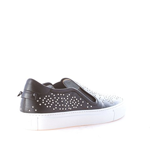 Street Slip Black Tone Studs with Givenchy Silver Black Leather New on Women Shoes q7wCfI1
