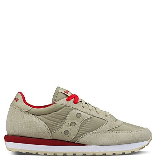 Saucony Originals Herren Jazz Original Sneaker Hell Tan / Rot