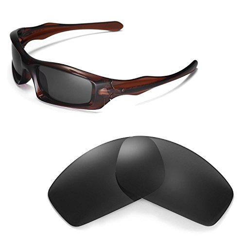 Walleva Replacement Lenses for Oakley Monster Pup Sunglasses - Multiple Options Available (Black - Polarized) ()