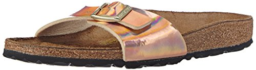 Birkenstock Sandals ''Madrid'' from Birko-Flor in Mirror Rose Gold 39.0 EU N by Birkenstock