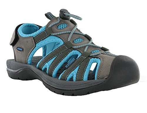 Womens Northwest Toggle Velcro Strap California Walking Closed Toe Beach Sandals Blue YQqq3Sb2