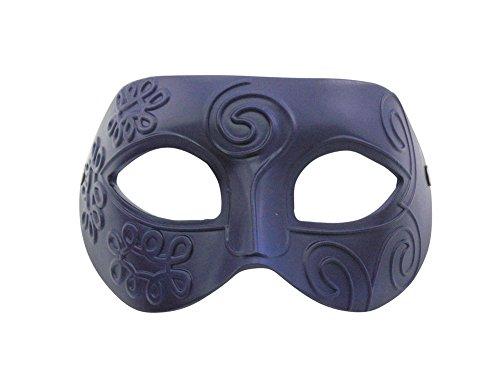 Masquerade Greek Retro Roman Gladiator Halloween Party Facial Resin Mask for Fancy Dress Masked (Blue Man Mask Halloween)