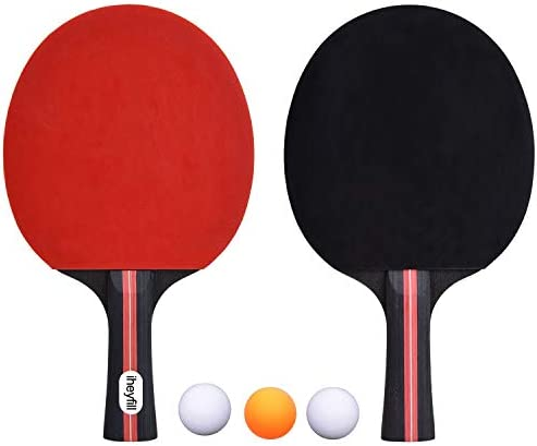 iheyfill Tafeltennisset tafeltennisbatjes3 tafeltennisballentafeltennisbatjes pingpongbatjes tafeltennisbatjes ideaal voor beginners gezinnen en professionals