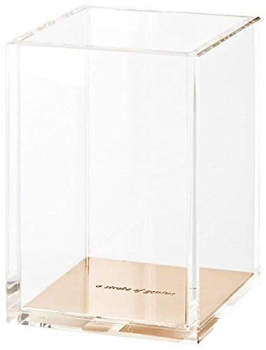 Kate Spade NY Pen Pencil Holder Cup Desk Stationery Organizer Gold (Large Image)