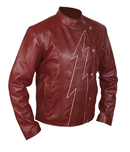 Flesh & Hide F&H Men's Flash Season 2 Jay Garrick Teddy Sears Jacket S Maroon (Jacket Superhero)