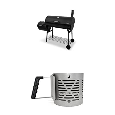 Char-Broil Offset Smoker American Gourmet Deluxe Charcoal Grill from CHPI9
